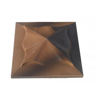 Кришка ковпак для забору Медуза коричнева 450х450 мм