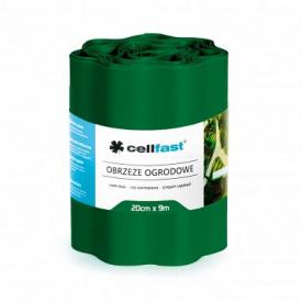 Бордюр огородно-газонный CellFast темно-зеленый 200x9000