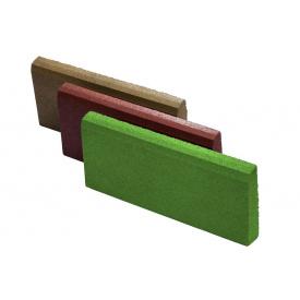 Резиновый бордюр RubCover 500х300х70 ммзеленый