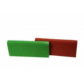 Резиновый бордюр RubCover 500х250х40 мм зеленый