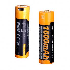 Аккумулятор 14500 Fenix ARB-L14-1600Umicro usb зарядка