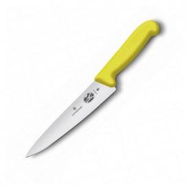 Ніж кухонний Victorinox Fibrox Carving обробний 19 см жовтий (Vx52008.19)