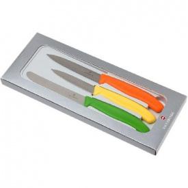 Набір кухонний Вікторінокс SwissClassic Paring Set 3 ножа з черв / Помар / зел ручкою 8 10 11 см