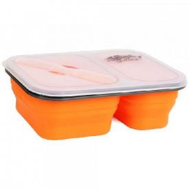 Контейнер 2 відсіку силіконовий Tramp TRC-090-orange