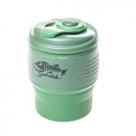 Кружка складна силіконова з кришкою Tramp TRC-082-green
