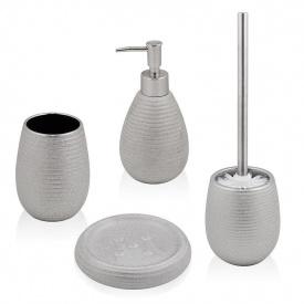Trento Sabbia комплект аксессуаров в ванную комнату серебро