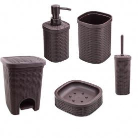 Комплект аксессуаров в ванную комнату Trento Rattan Brown