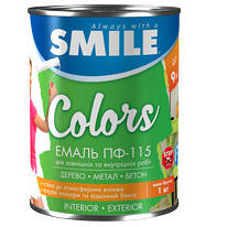 Емаль SMILE ПФ-115 0,9 кг білий матовий