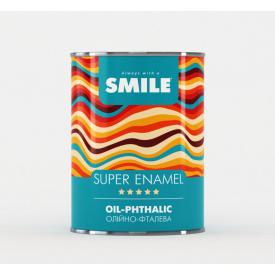 Супер Емаль SMILE 0,9 кг вишневий для зовнішніх і внітрішніх робіт