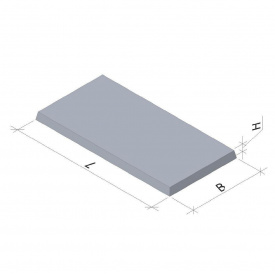 Тротуарная плита 6 П5 1000x500x45 мм