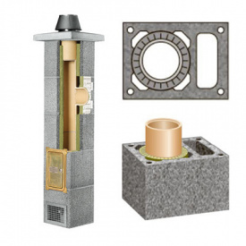Комплект керамического дымохода Schiedel Rondo Plus одноходовой с вентиляцией Plus 140 мм 11 м