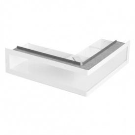 Вентиляционная решетка угловая с рамкой V-OPEN-L / R 500х500х70 мм белая Ventlab