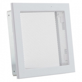 Вентиляционная решетка V с сеткой KRVSM 220х220 белая Ventlab