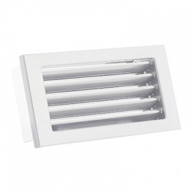 Вентиляционная решетка V с неподвижными жалюзи KRVZS 450х220 белая Ventlab