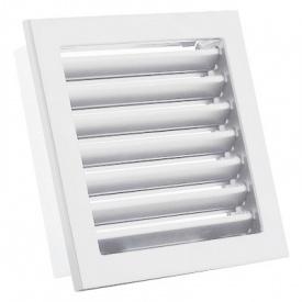 Вентиляционная решетка V с неподвижными жалюзи KRVZS 220х220 белая Ventlab
