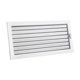 Вентиляционная решетка V с подвижными жалюзи KRVZ 450х240 белая Ventlab