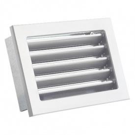 Вентиляционная решетка V с неподвижными жалюзи KRVZS 200х145 белая Ventlab