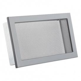 Вентиляционная решетка V с сеткой KRVSM 240х170 черная Ventlab