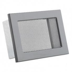 Вентиляционная решетка V с сеткой KRVSM 190х170 черная Ventlab