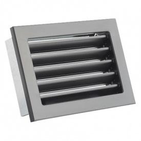 Вентиляционная решетка V с неподвижными жалюзи KRVZS 200х145 черная Ventlab