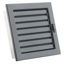 Вентиляционная решетка V с подвижными жалюзи KRVZ 220х220 черная Ventlab