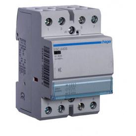 Контактор модульный бесшумный 40A 4 НО ESC440S Hager