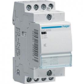 Контактор модульный бесшумный 25A 4 НО ESC425S Hager