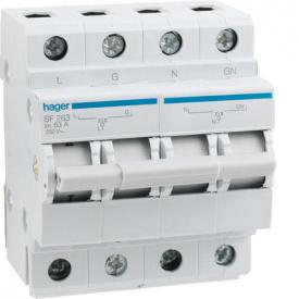 Перемикач I-0-II 1P+N 63 А Hager