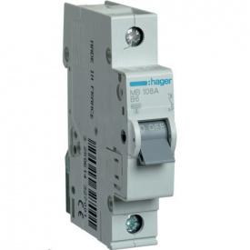 Автоматичний вимикач Hager 6 А, 1п, В MB106A
