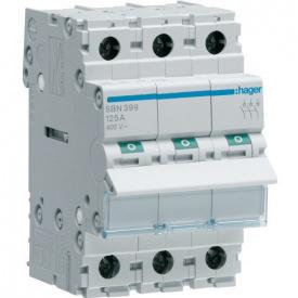 Вимикач навантаження 3p 125А SBN399 Hager