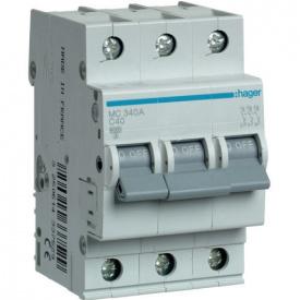 Автоматический выключатель 3p 40А С MC340A Hager