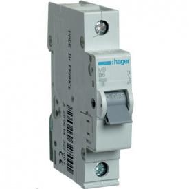 Автоматичний вимикач Hager 50 А, 1п, В MB150A