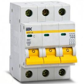 Автоматический выключатель ВА47-29 3p 16A C ИЭК