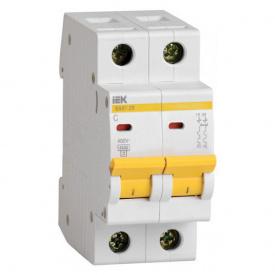 Автоматический выключатель ВА47-29 2p 6A C ИЭК
