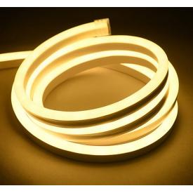 Светодиодный неон теплый белый NEON 120WW2835-220V-12W/m IP65 6mm