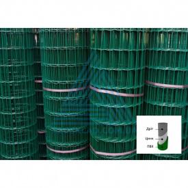Зварна сітка в рулонах 2х25 м з ПВХ покриттям (вічко 50х50) для парканів огородження