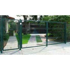Ворота 2,4х6,0м с ППЛ покрытием для 3Д заборов из сварной сетки