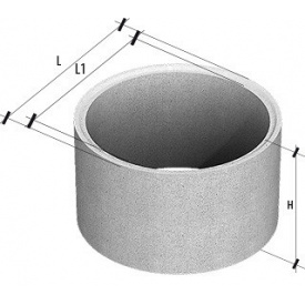 Кольцо стеновое пазогребневое КСЕ 10-6