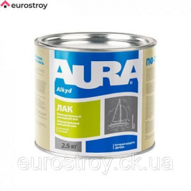 Лак яхтный Aura полуматовый 0,8 кг AURA