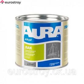 Лак яхтный Aura полуматовый 2,5 кг