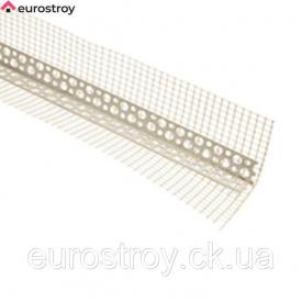 Уголок перфориванный пластиковый фасадный с сеткой BAUMIT 10x15 мм 2,5 м