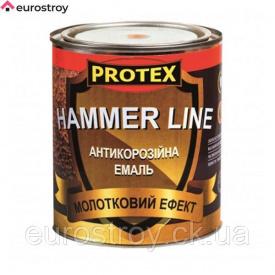 Эмаль молотковая Hammer Line черная 0,7 л Химрезерв