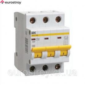 Автоматичний вимикач 3Р 16А 4.5кА C IEK ВА47-29М