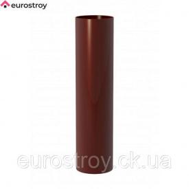 Водосточная труба-3m 80 мм коричневый New Way RAL 8004