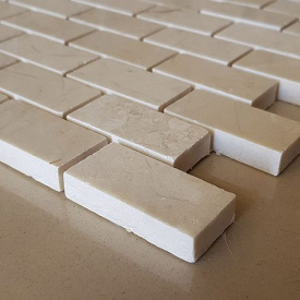 Мармурова мозаїка Crema Nova полірований лист 1x30,5x30,5 м