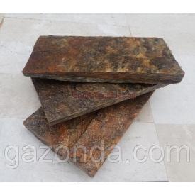 Плитка лицювальна сланець 1х5х15 см коричнева