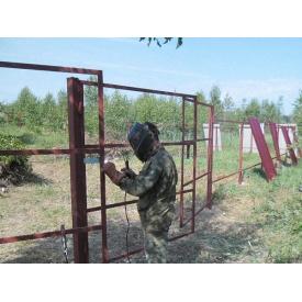 Монтаж металевого паркану
