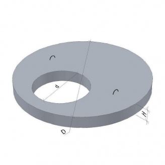 Кришка для колодязя 2ПП20-2-1 ТМ «Бетон від Ковальської» 2250х700х160 мм