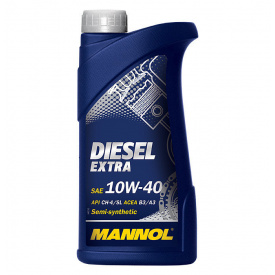 Масло моторное MANNOL Diesel Extra п/синт 10w40 1L CH-4/SJ