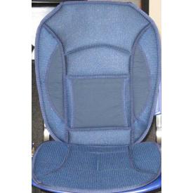 Накидка на сидение 12527 BL дерм+сетка синяя